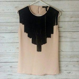 {BCBG MaxAzria} Tan and black top